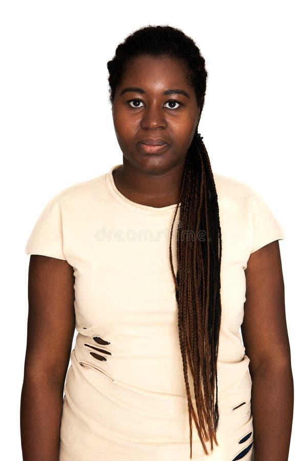 Mulher africana ocasional fotografia de stock