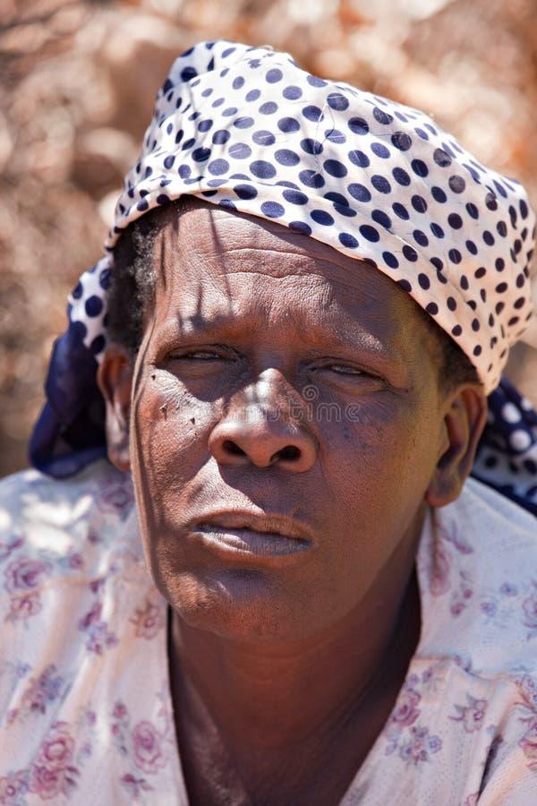 Mulher africana sênior imagens de stock