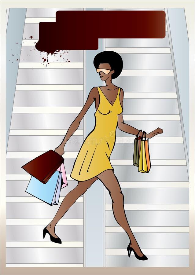 Mulher afro-americana urbana foto de stock