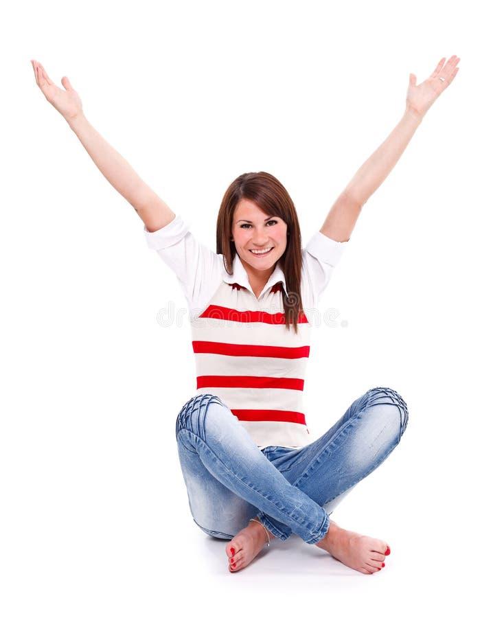 Mulher alegre imagem de stock royalty free