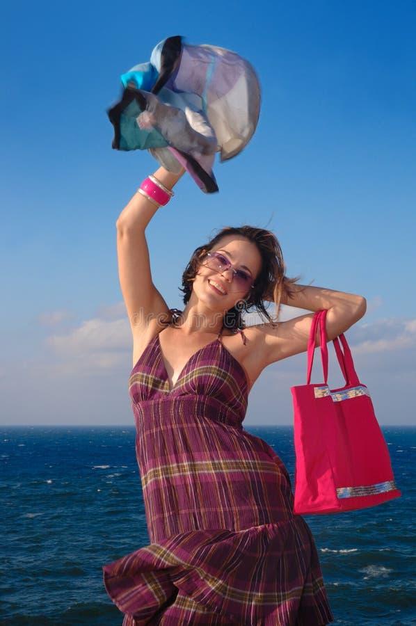 Mulher alegre da forma imagem de stock