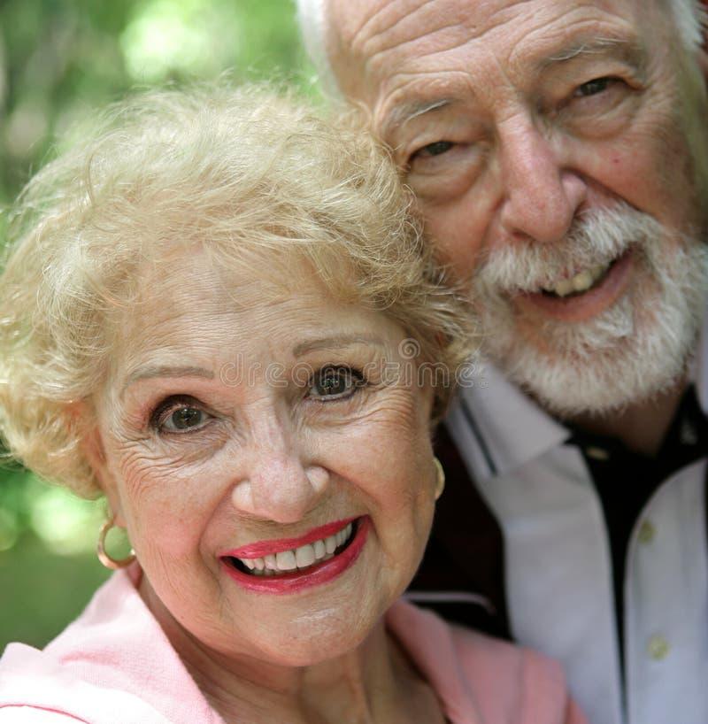Mulher & marido sênior fotografia de stock