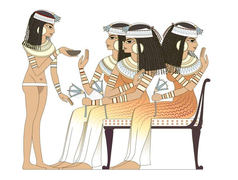 Mulher antiga de Egipto ilustração royalty free