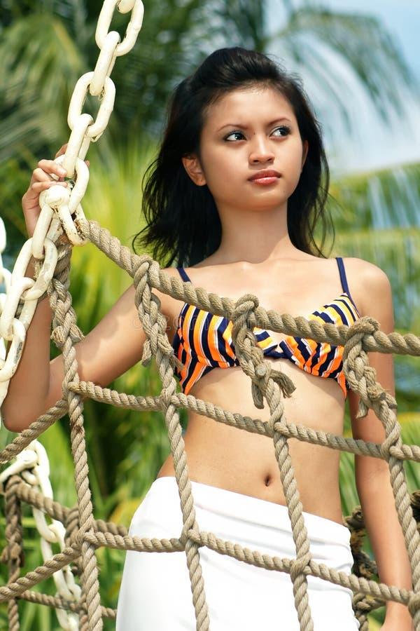 Download Mulher asiática foto de stock. Imagem de pose, retrato - 107702