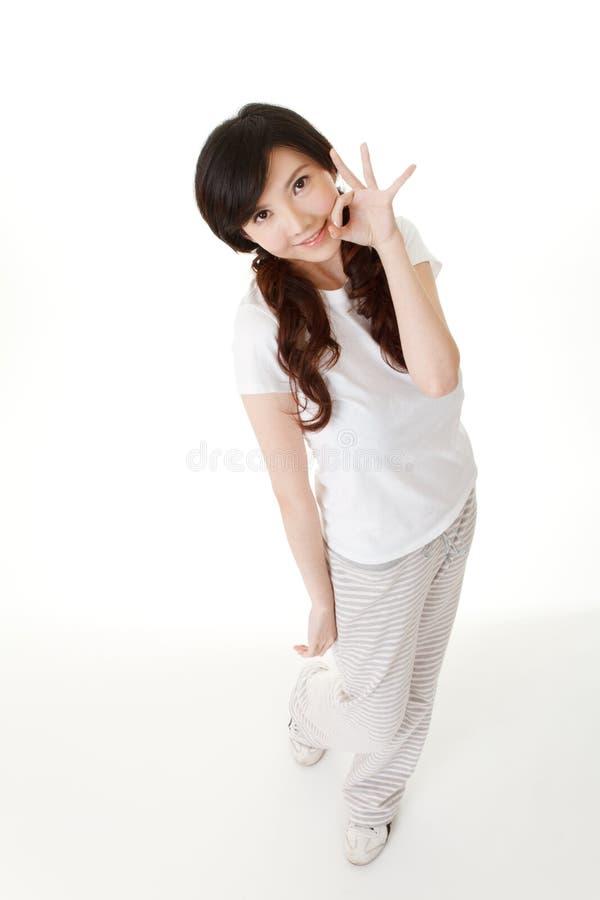 Mulher asiática adorável fotos de stock royalty free