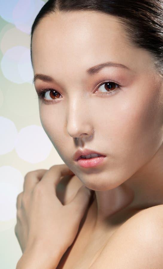 Mulher asiática atrativa da beleza fotografia de stock