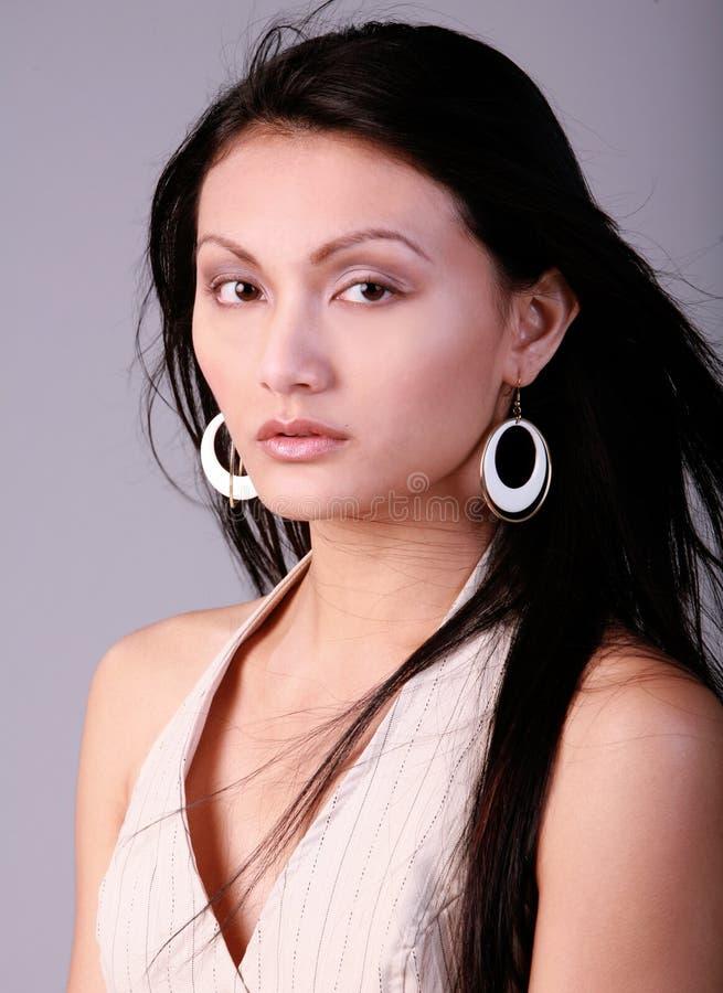 Mulher asiática bonita foto de stock