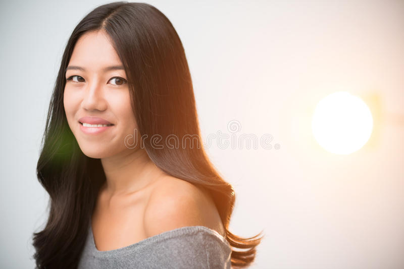Mulher asiática bonita imagens de stock
