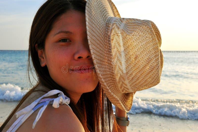 Mulher asiática bonita do retrato fotos de stock