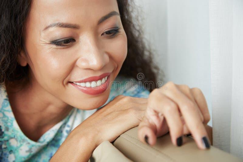 Mulher asiática brincalhão fotografia de stock royalty free
