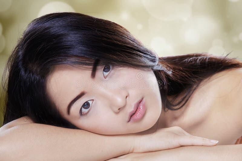 Mulher asiática com pele saudável fotografia de stock royalty free