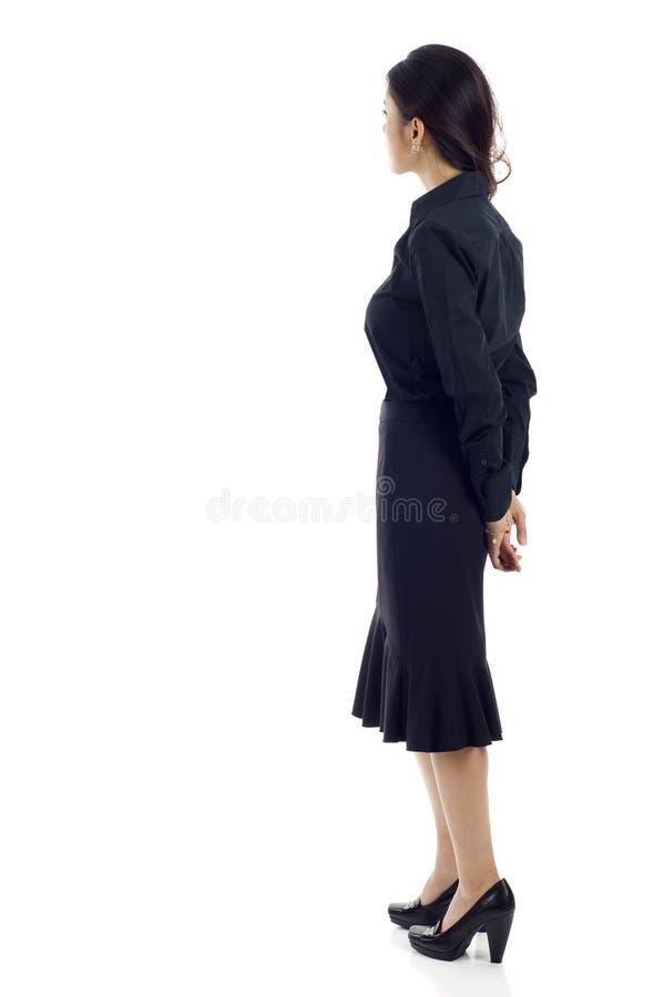 Mulher asiática da parte traseira fotos de stock