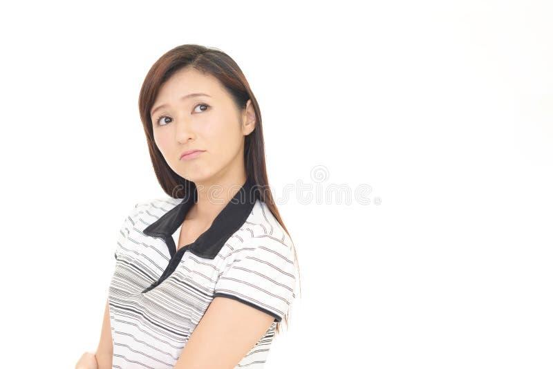 Mulher asiática descontentada imagem de stock royalty free