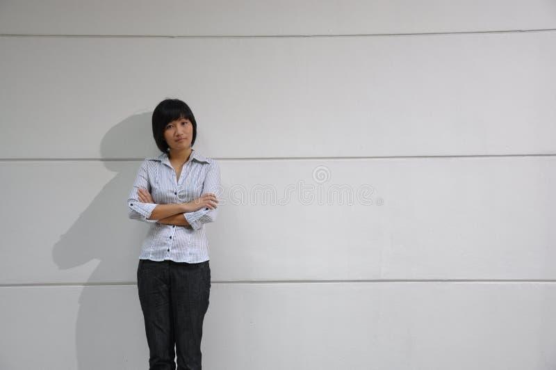Mulher asiática esperta fotos de stock royalty free