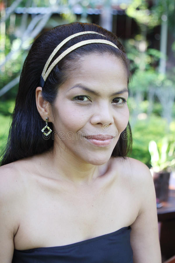 Mulher asiática feliz. fotos de stock royalty free