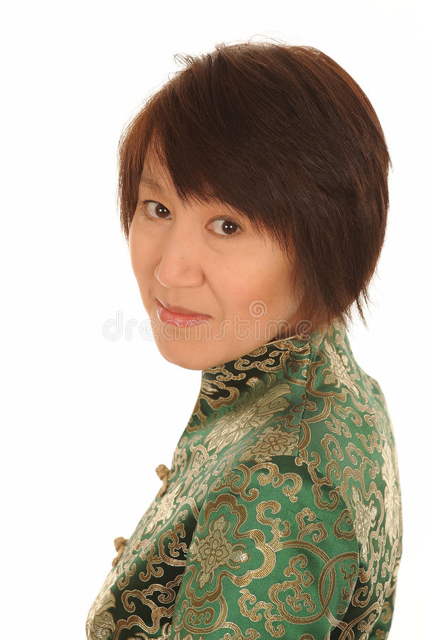 Mulher asiática feliz fotografia de stock royalty free