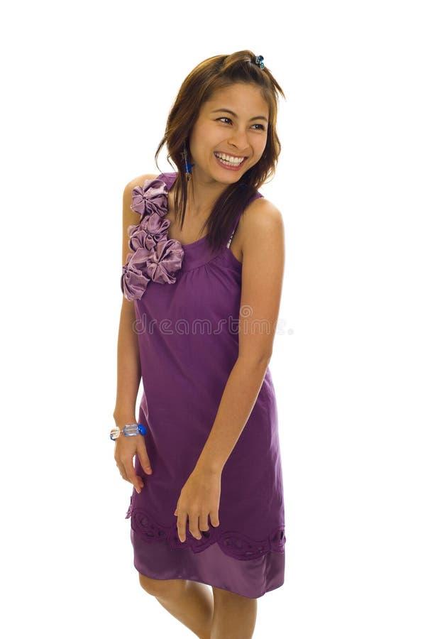 Mulher asiática muito feliz foto de stock royalty free