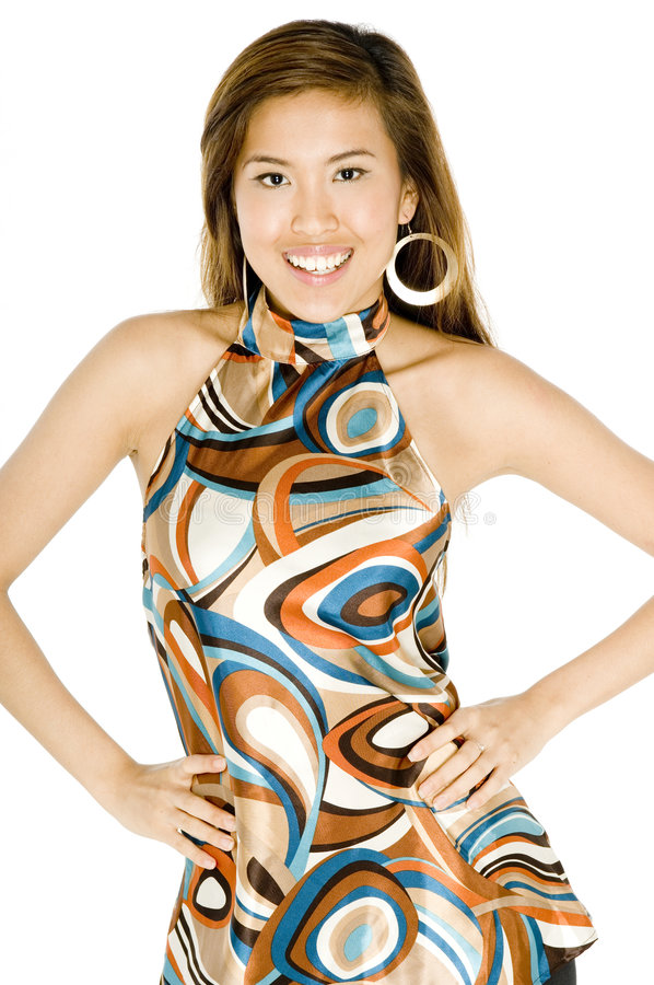 Mulher asiática na moda fotografia de stock