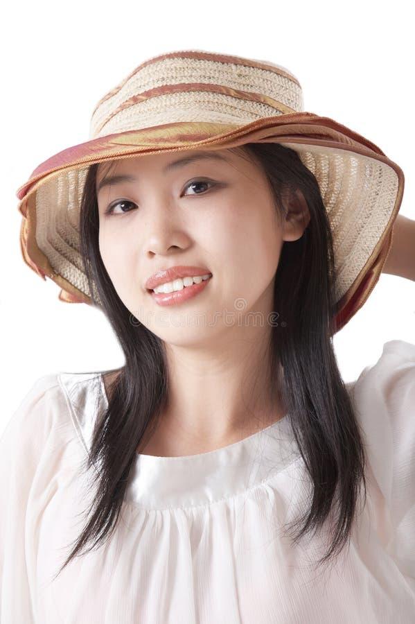Mulher asiática no verão imagens de stock royalty free