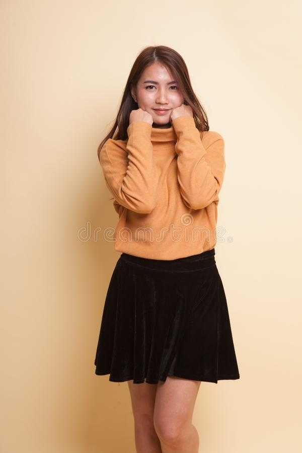 Mulher asiática nova bonita imagens de stock royalty free