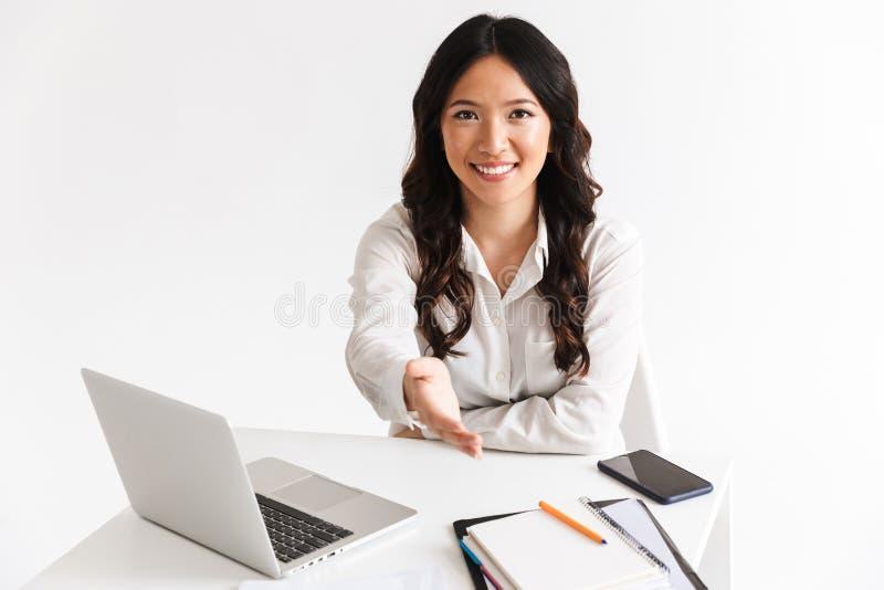 Mulher asiática nova segura imagem de stock