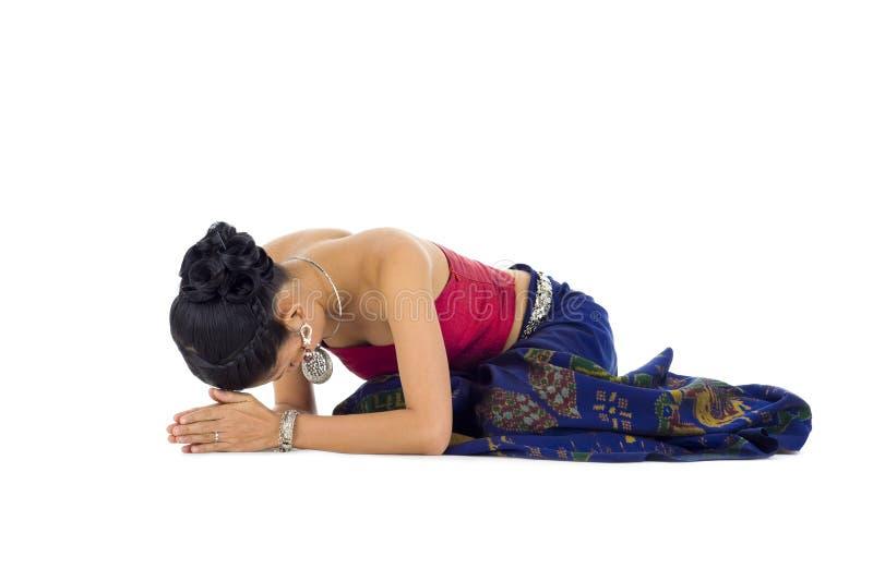 Mulher asiática que praying imagens de stock