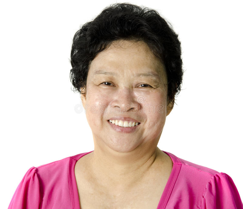 Mulher asiática sênior foto de stock royalty free