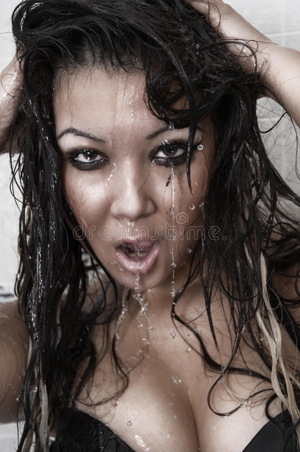 Mulher asiática sexual fotografia de stock