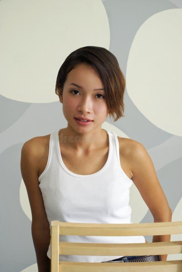 Mulher asiática 'sexy' nova fotografia de stock royalty free