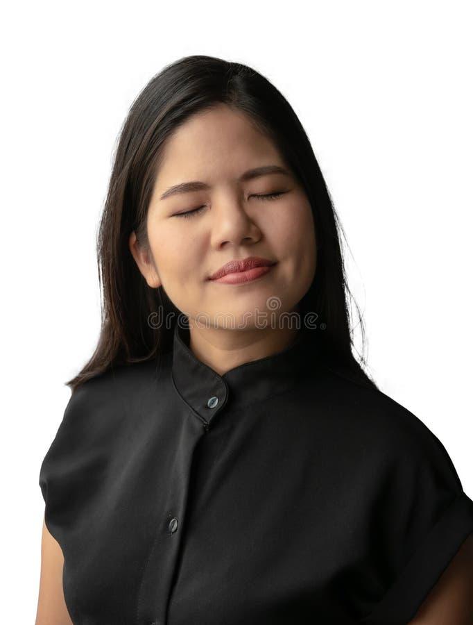 Mulher asi?tica de sorriso fotos de stock royalty free