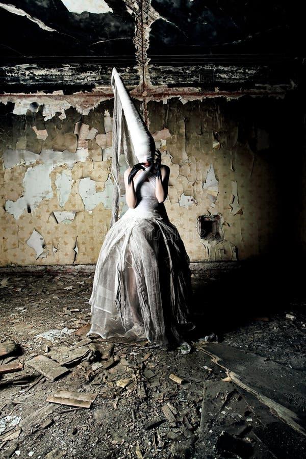 Mulher assustador fotografia de stock royalty free