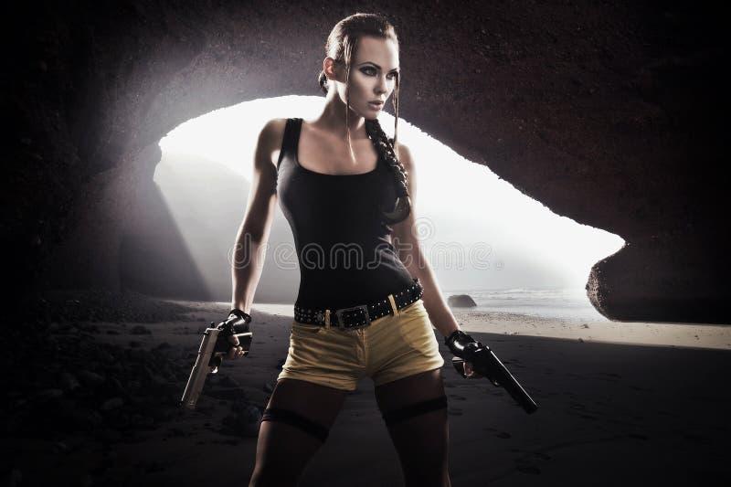 Mulher atlética foto de stock