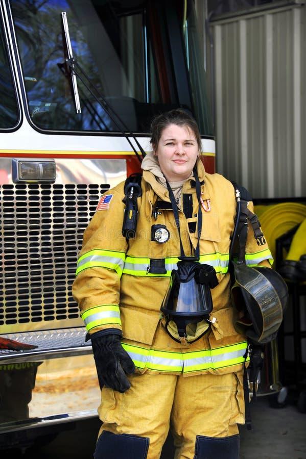 Mulher atrativa do incêndio fotografia de stock