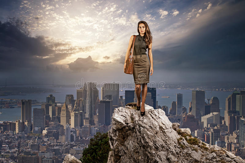 Mulher bem sucedida imagem de stock royalty free