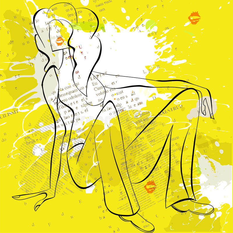 Mulher bonita ilustração do vetor