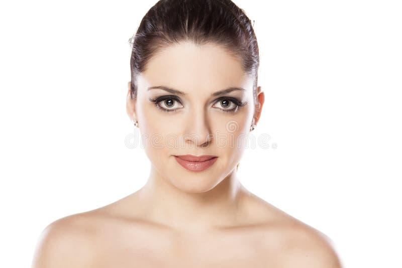 Download Mulher bonita foto de stock. Imagem de calma, menina - 65576906