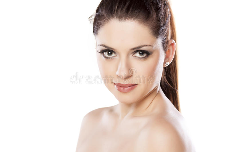 Download Mulher bonita imagem de stock. Imagem de olhar, frescor - 65576969
