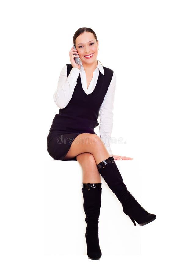 Mulher bonita alegre fotografia de stock royalty free