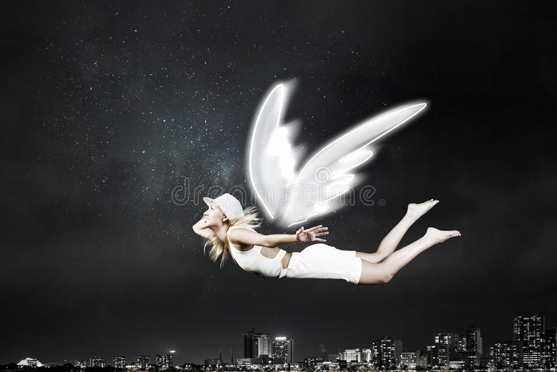 Mulher bonita angélico fotos de stock