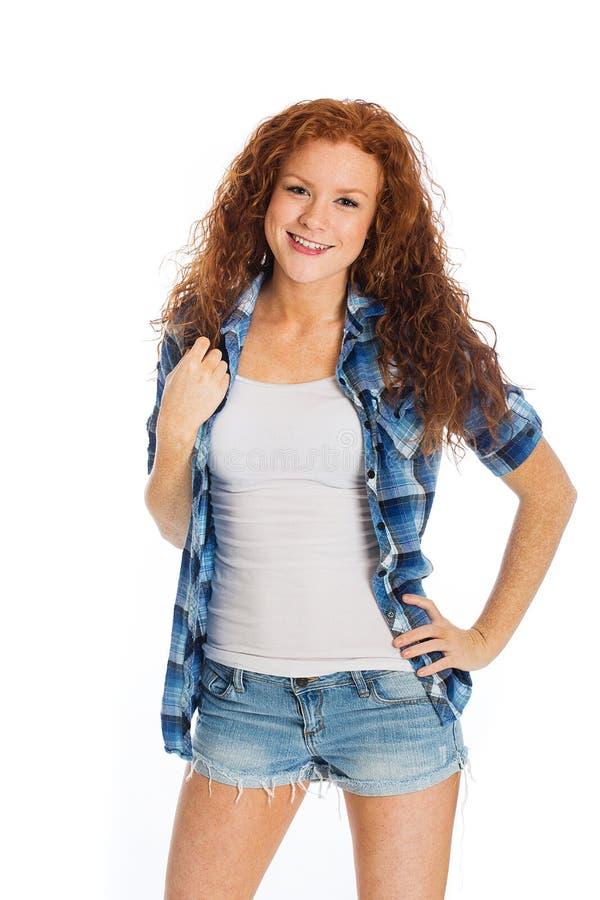 Mulher bonita com cabelo fotos de stock