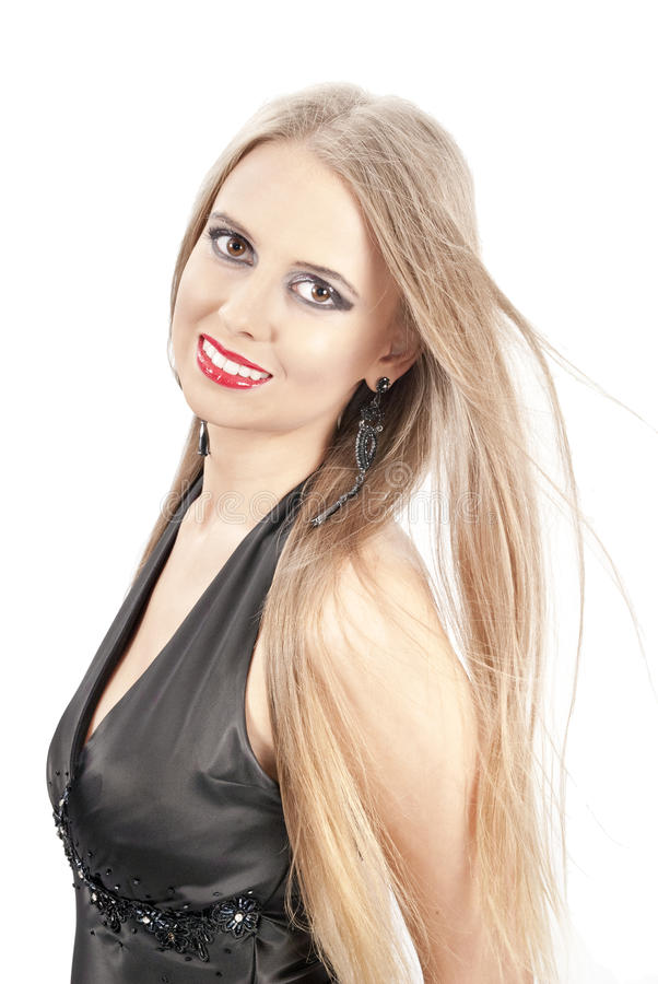 Mulher bonita com cabelo bonito imagens de stock
