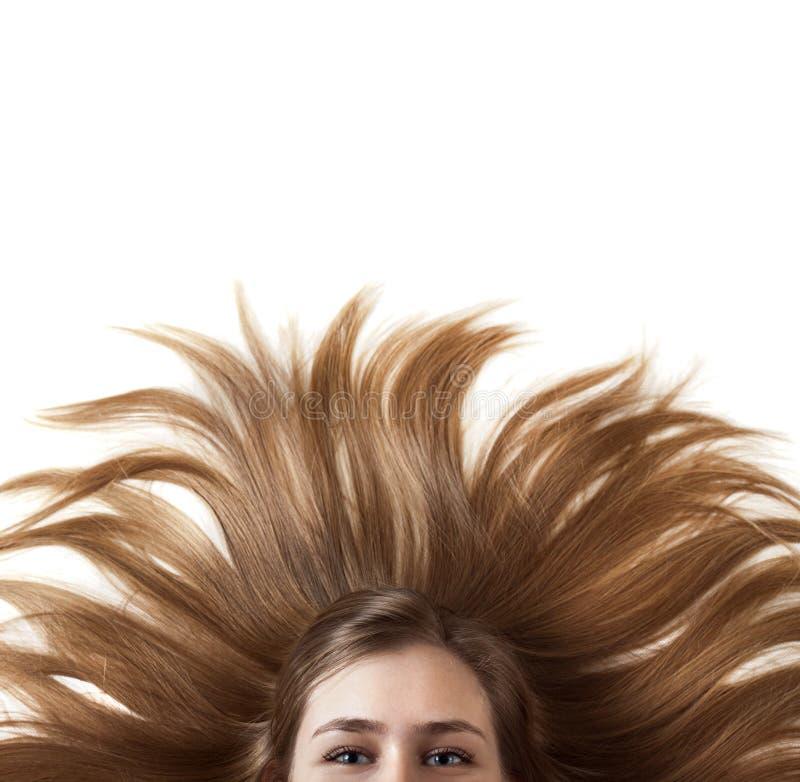 Mulher bonita com cabelo maravilhoso fotografia de stock royalty free