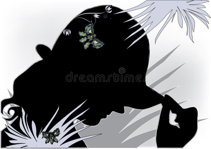 Mulher bonita com chapéu ilustração royalty free