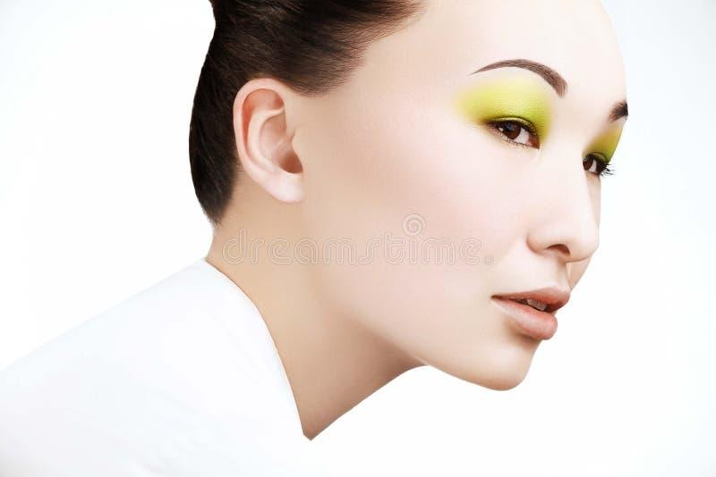 Mulher bonita com composição da forma imagem de stock royalty free