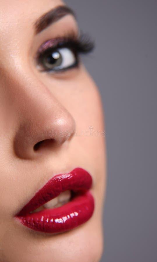 Mulher bonita com composição da noite fotografia de stock