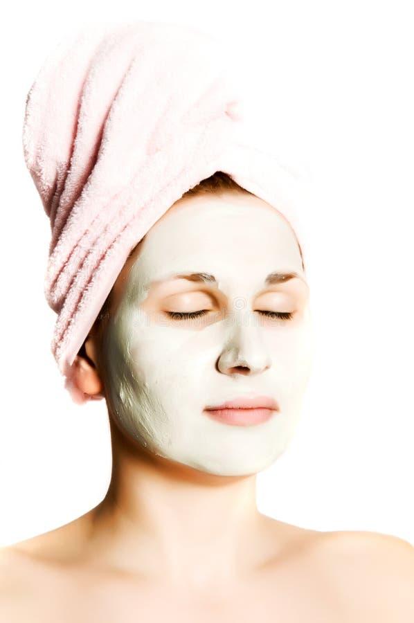 Mulher bonita com máscara fotos de stock royalty free
