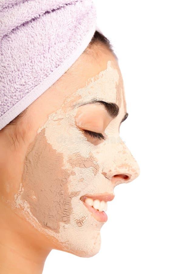 Download Máscara Facial Da Argila Aplicada Foto de Stock - Imagem de face, menina: 29833474