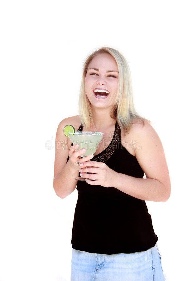 Mulher bonita com Margarita fotos de stock royalty free
