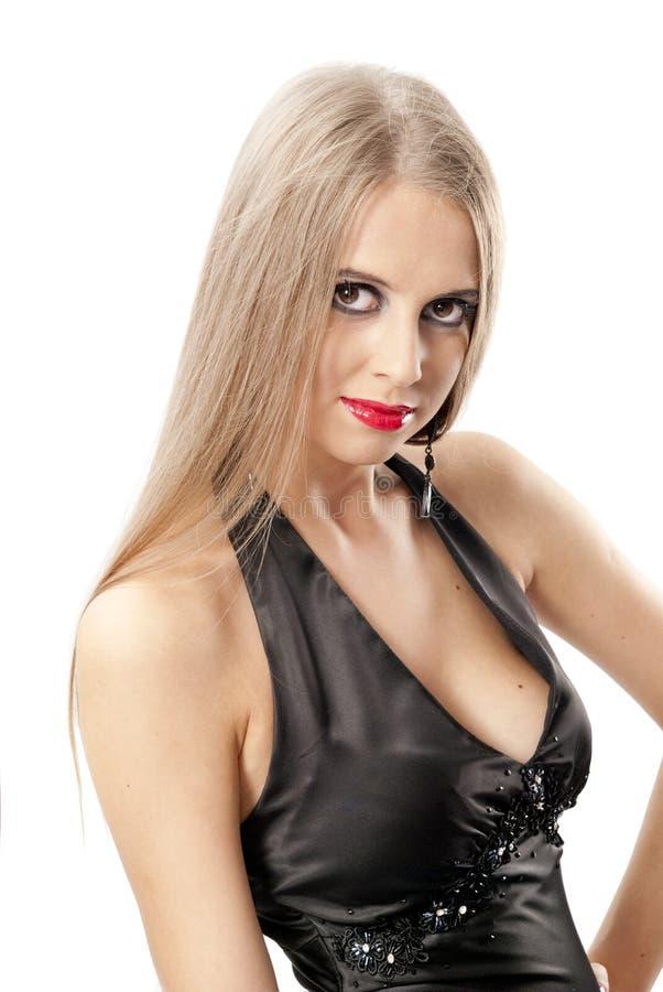 Mulher bonita com olhos grandes foto de stock royalty free