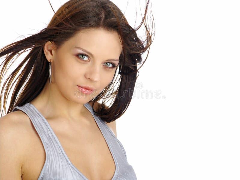 Mulher bonita. Composição & Fashion.Portrait ser foto de stock royalty free